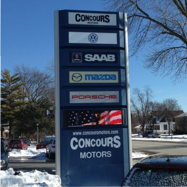 New Full Color Led Message Board For Concours Motors In
