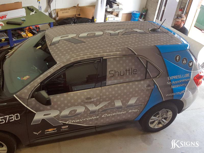 Vehicle Wraps Advertisement