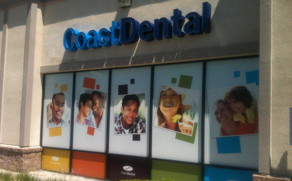 Full Exterior Outdoor Window Graphics For Coast Dental