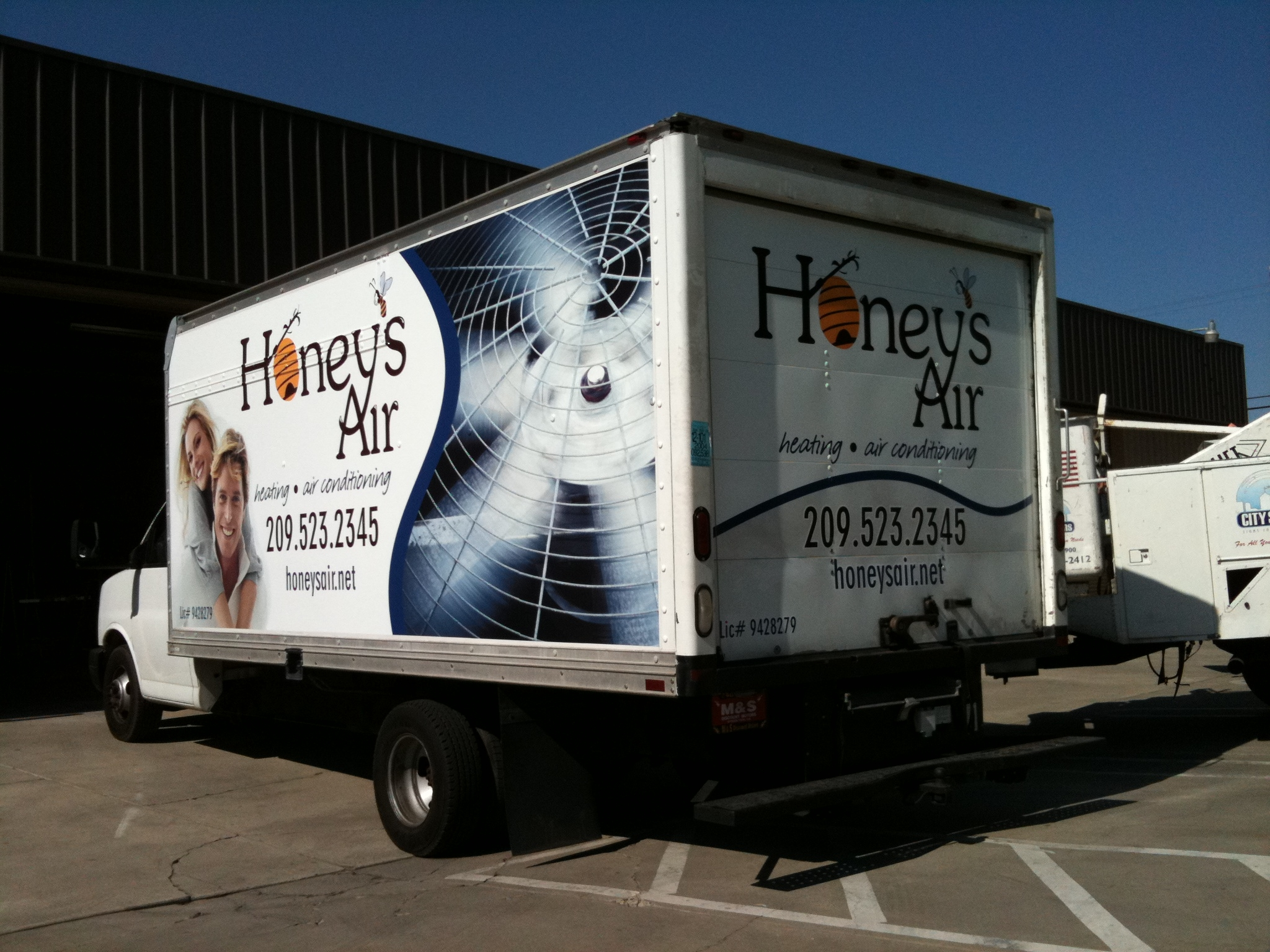 Vehicle Truck Wrap For Honey S Hvac Heating