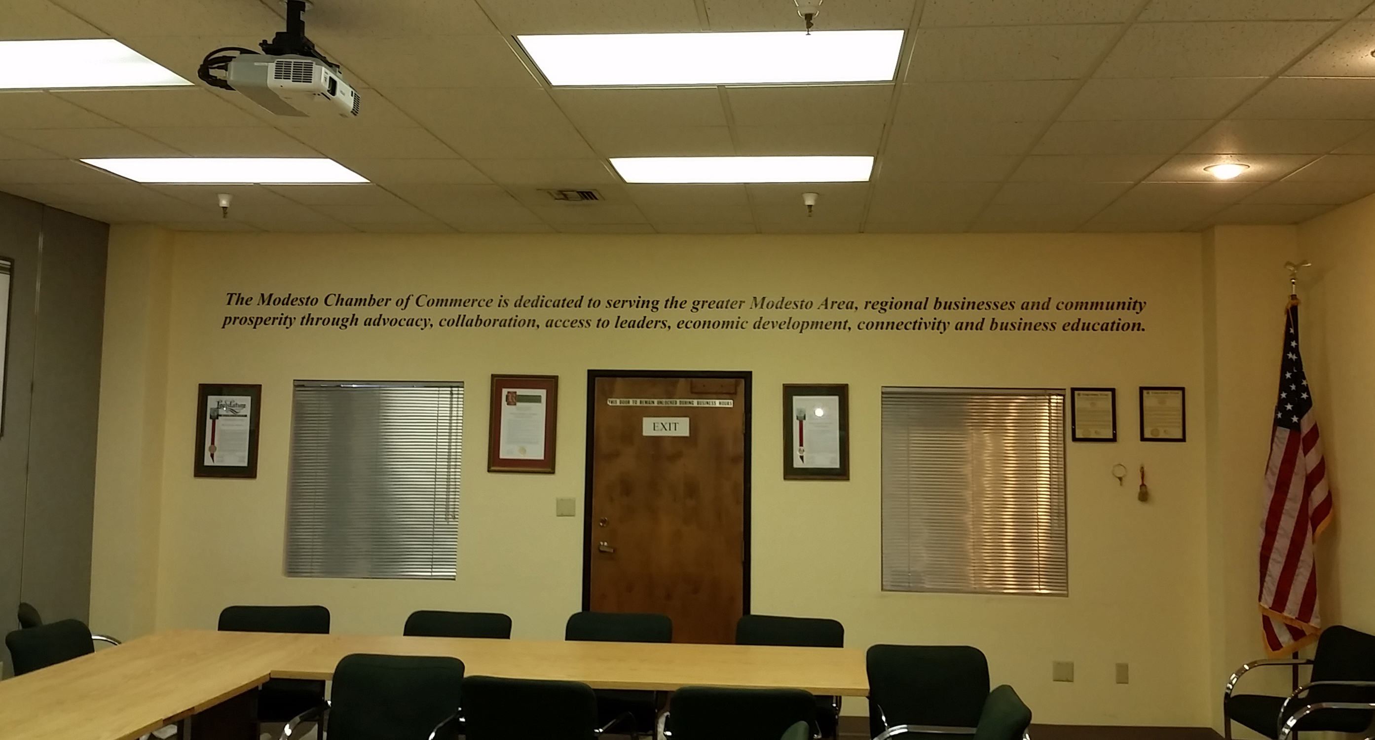Custom Interior Office Signage for Central Valley Organizations in