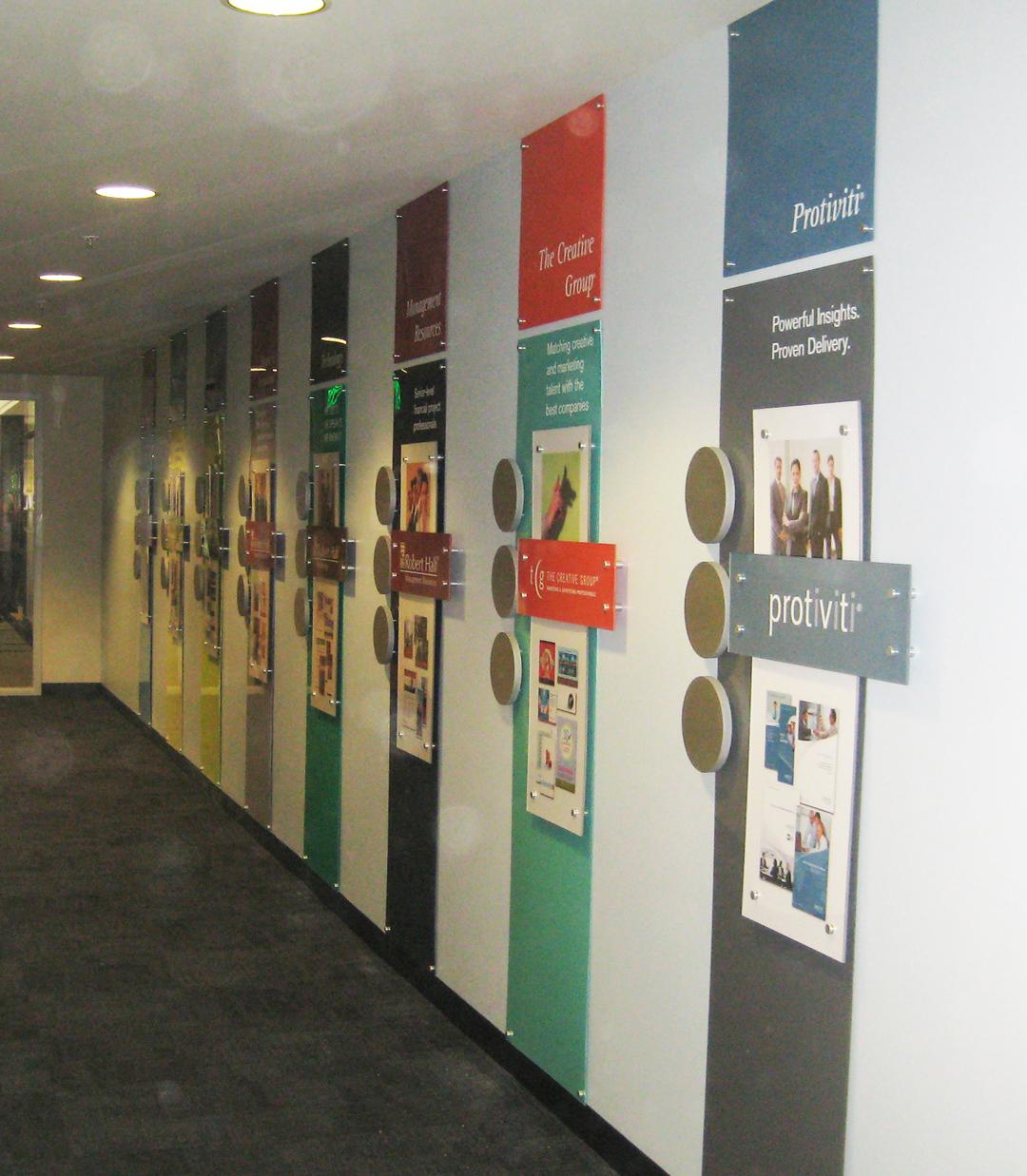 Custom Interior Acrylic Office Signs For Robert Half International In Menlo Park And San Ramon Ca
