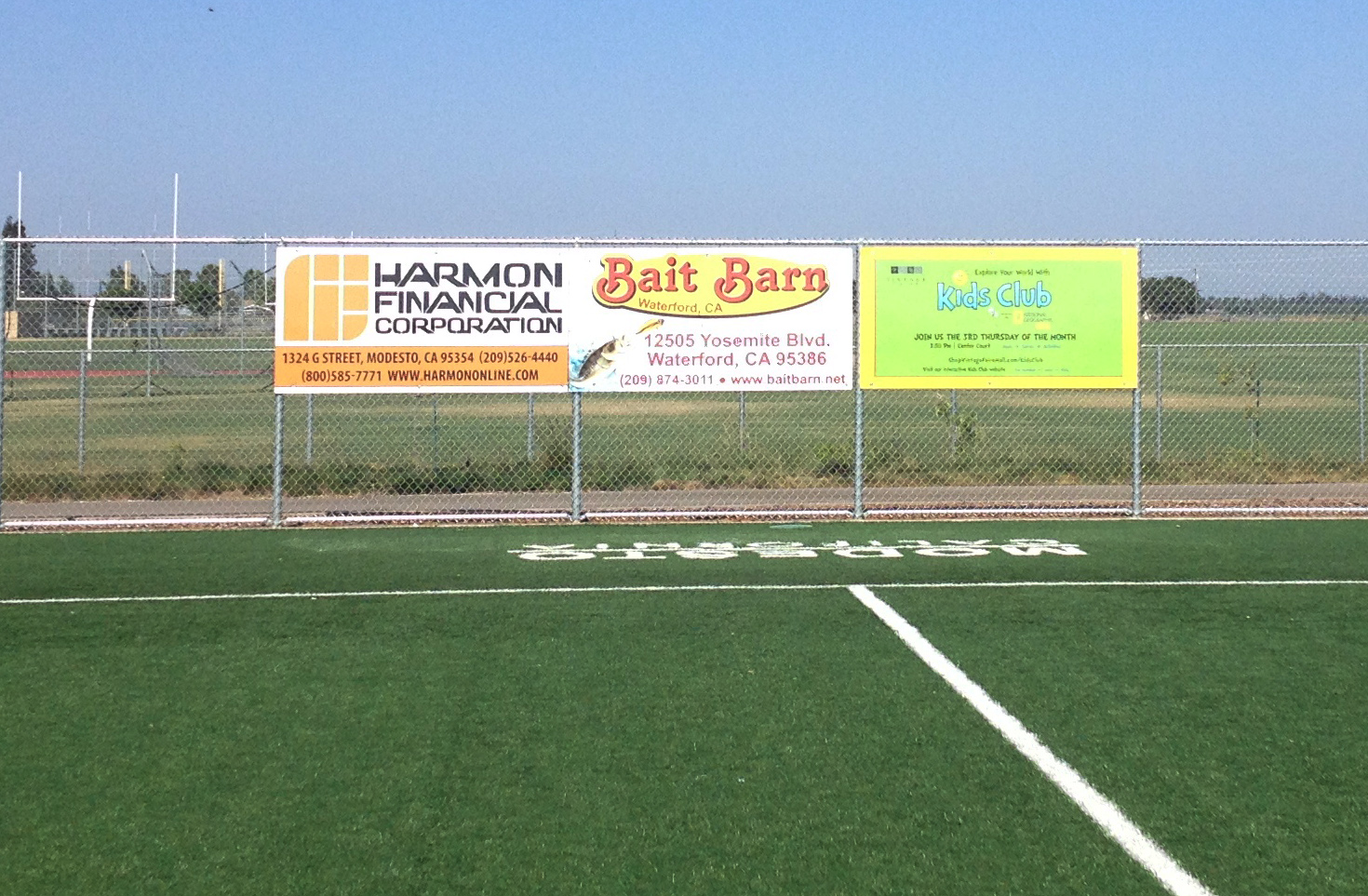 New Sponsor Signs For Sports Fields At Mary Grogan