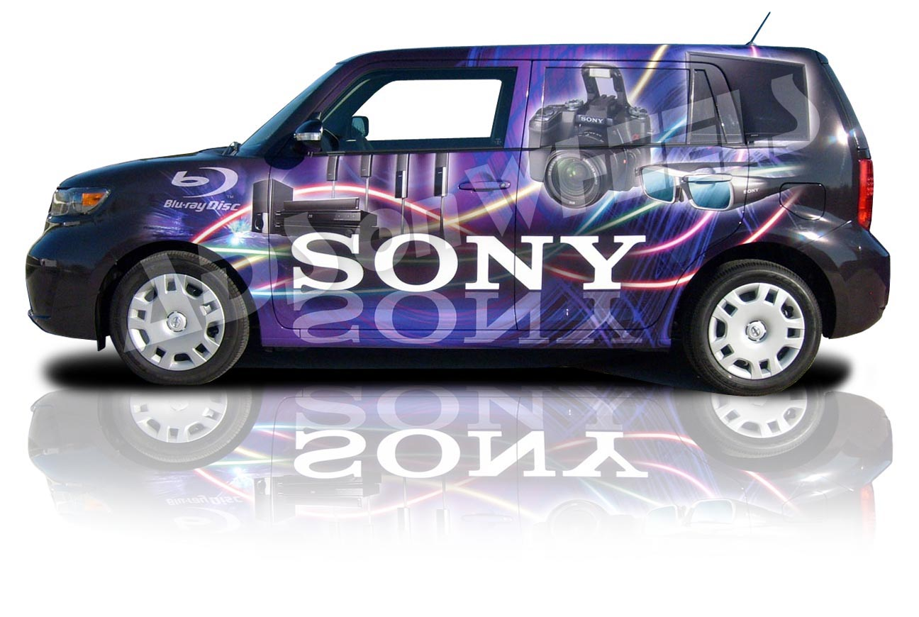 sony wrap graphics advertising marketing