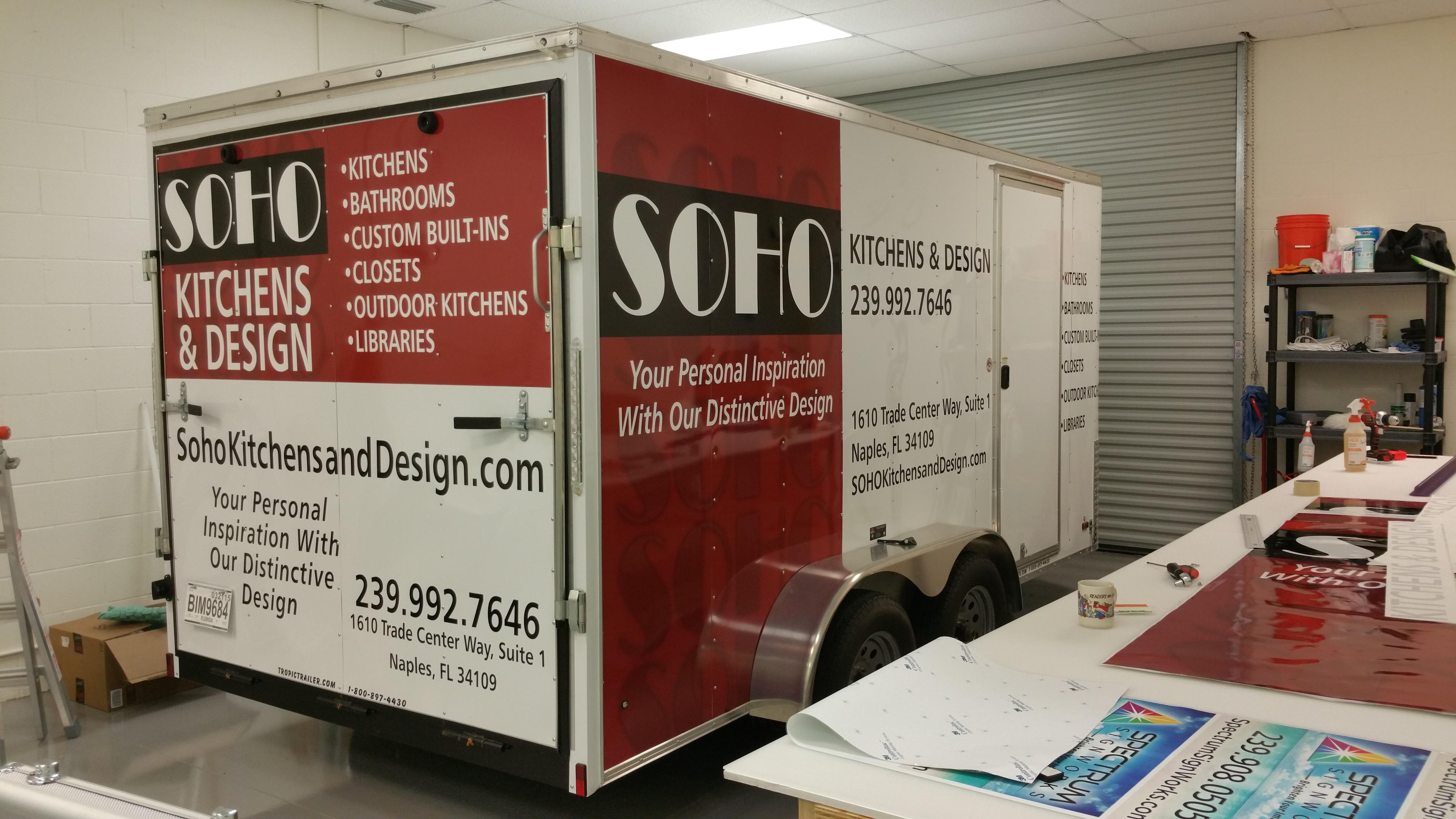 Vehicle Wrap Work Trailer In Naples Fl For Soho