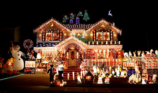 all out christmas lights house