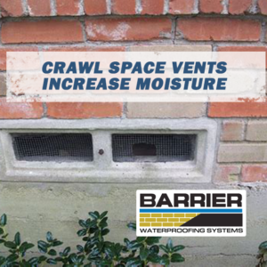 Crawl space vent depicting how they increase moisture indoors