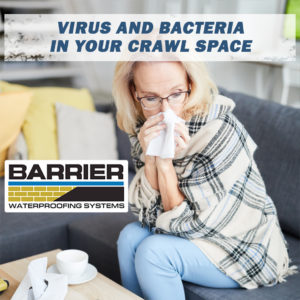 Ill woman suffering from crawl space bacteria