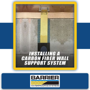 Photo of a FORTRESS carbon fiber wall support system