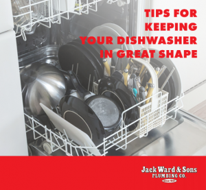Dishwasher loaded with dishes for best machine health