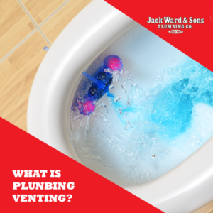 Toilet flushing imagery for what is venting in plumbing