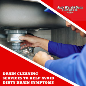 Man cleaning drains depicting drain cleaning services