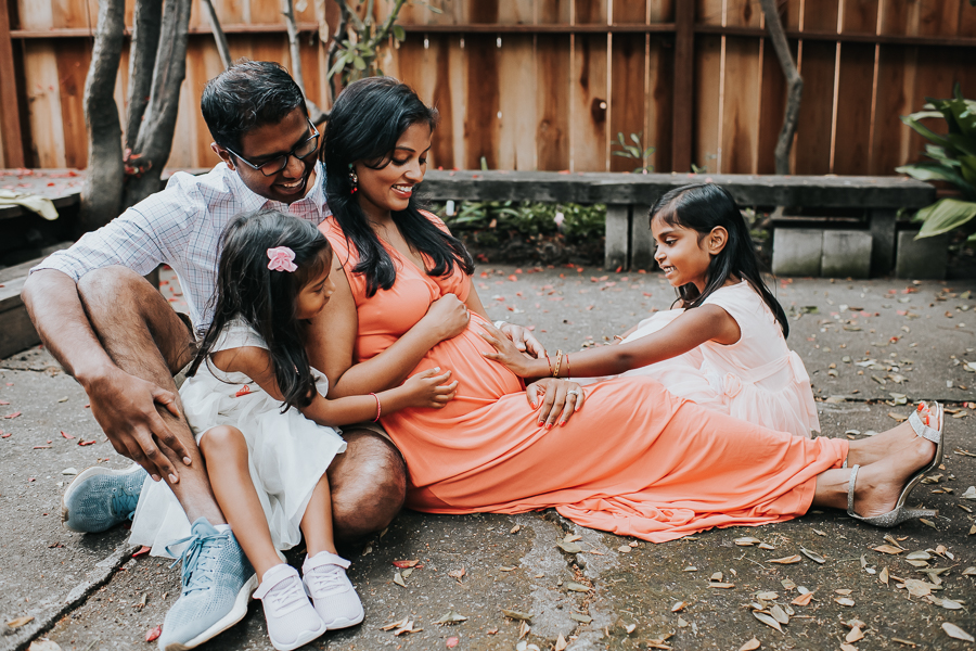 In-home maternity session