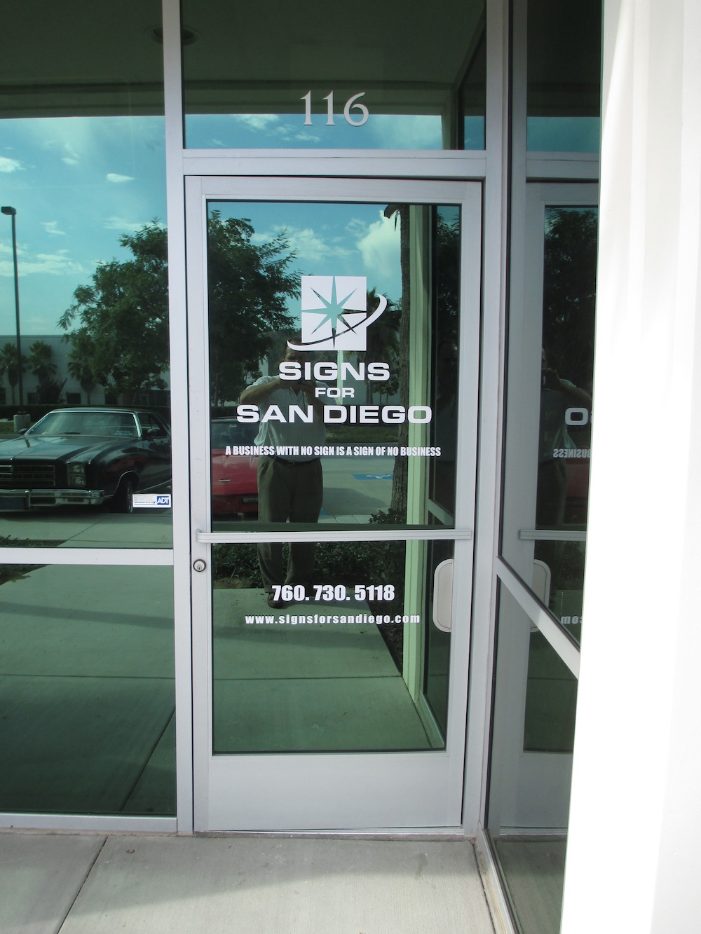 Window and door lettering for Door vinyl design
