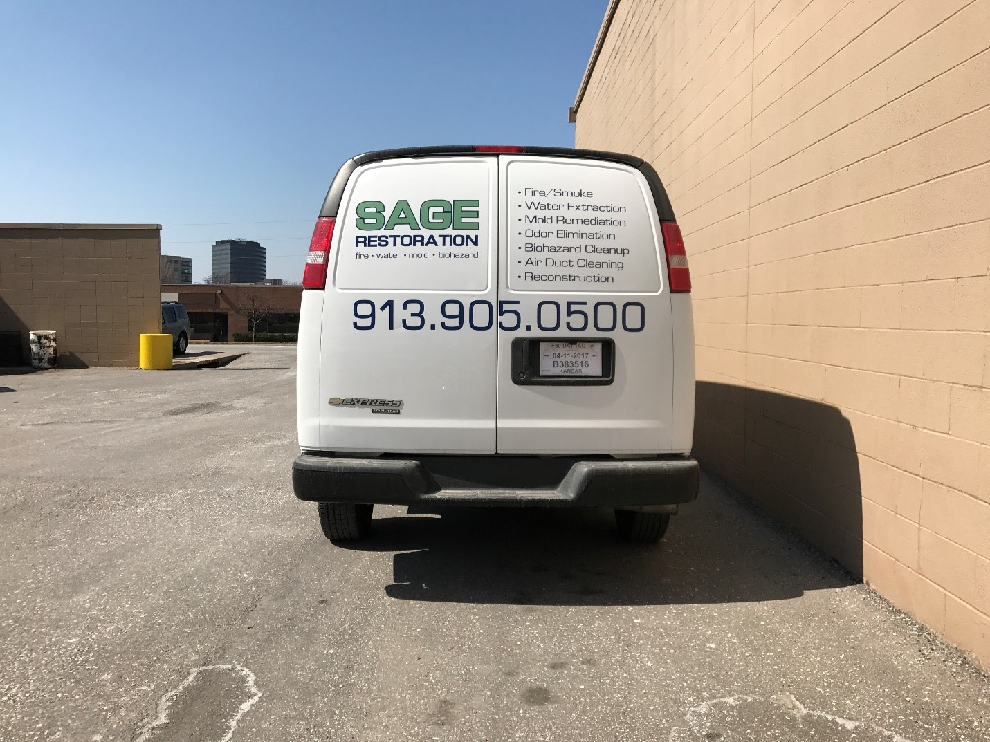 Custom Vehicle Graphics For Sage Restoration - Custom vinyl sign graphics   removal options