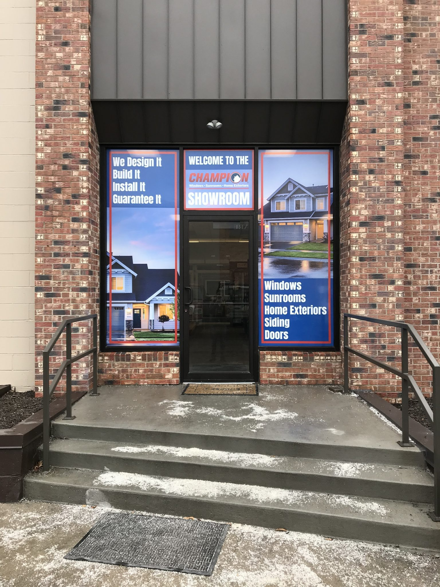 & Champion Windows u0026 Home Exteriors: Print and Install Door Graphics