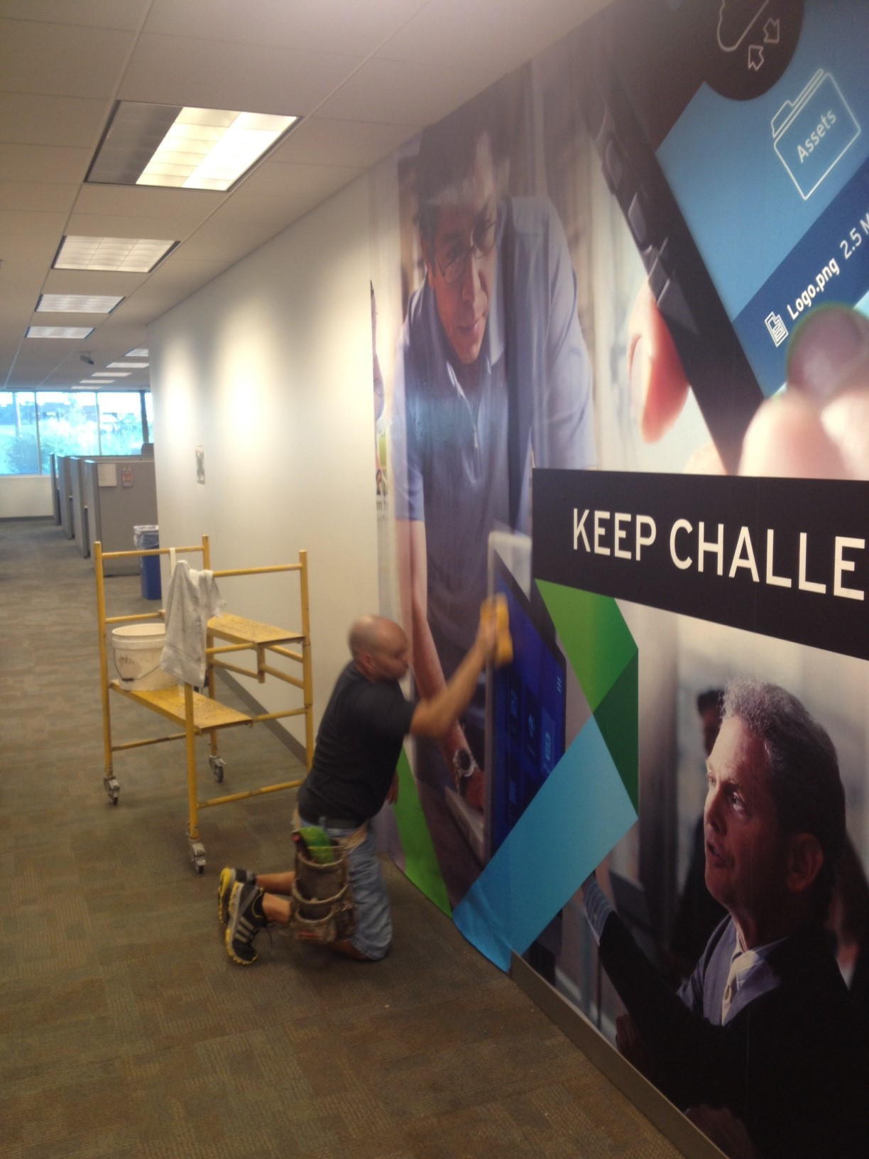extra large wall mural transforms office wall phoenix az wall before the mural photo 2 2