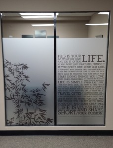 Professional Privacy With Frosted Etched Matte Vinyl