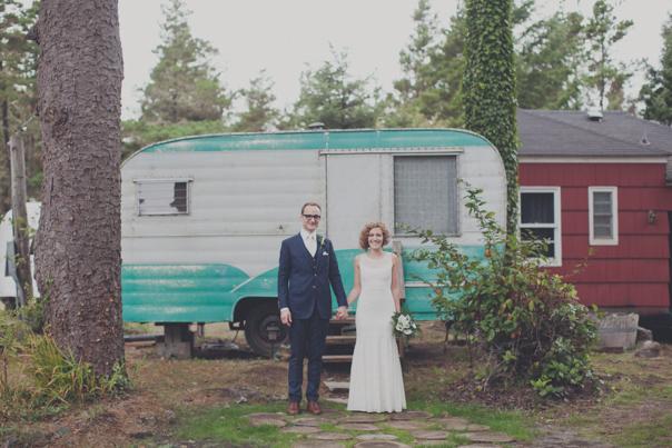 Sou Wester Eclectic Trailer Park Wedding In Washington