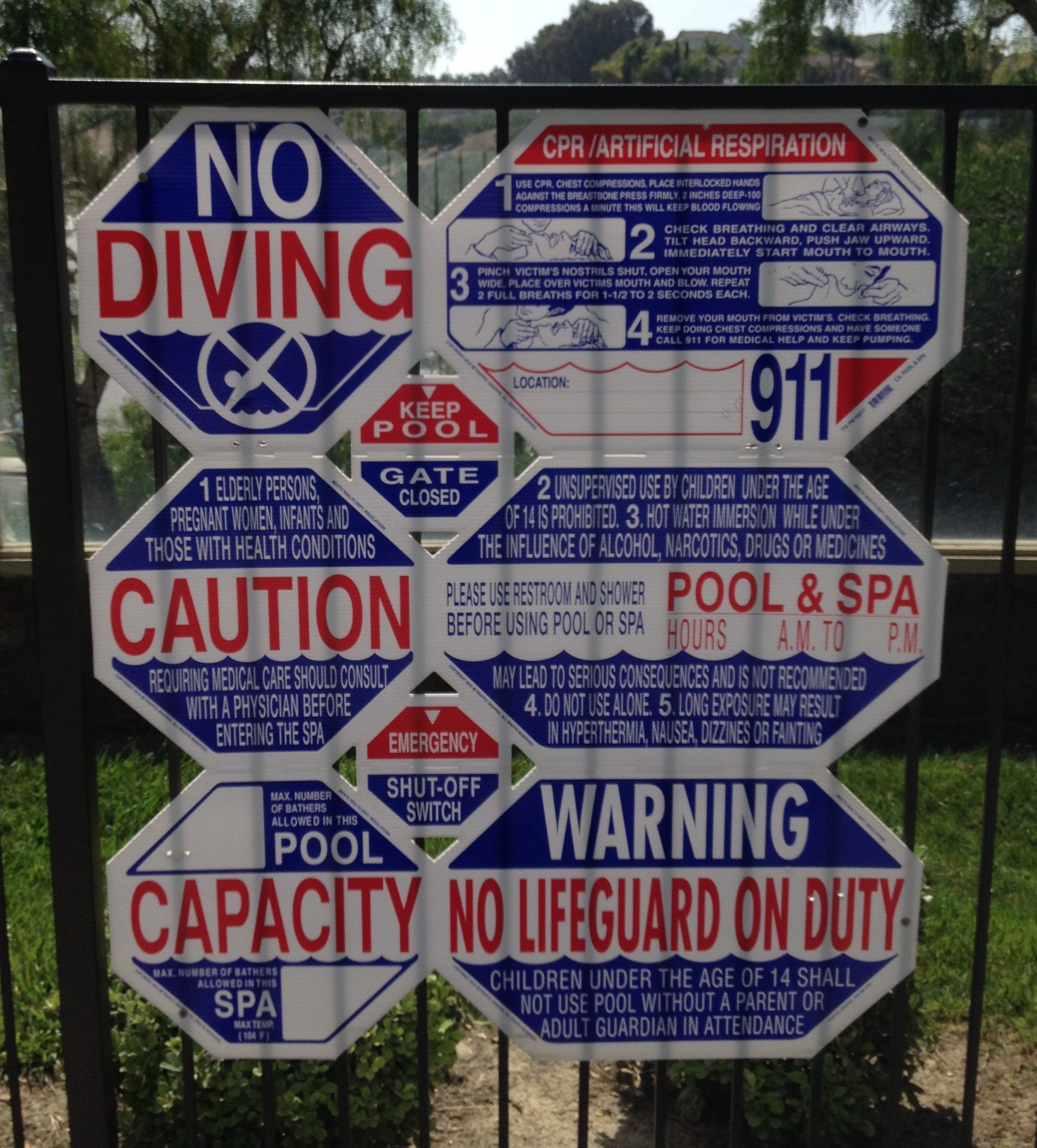 Public Pool Signage Requirements In California