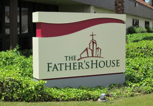 This Led Monument Sign Lights The Night For The Father S