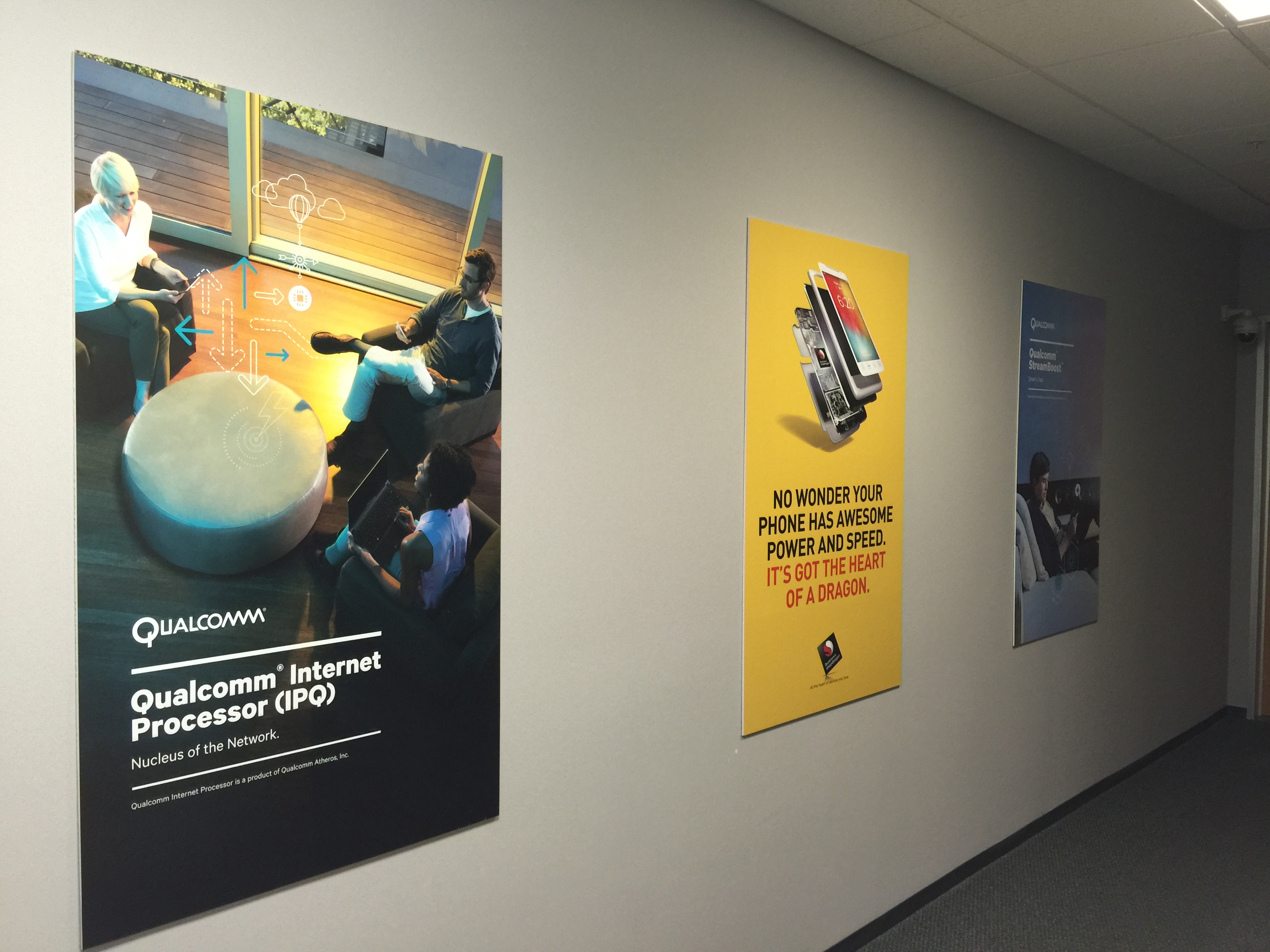 Laminated project posters in irvine ca for qualcomm inc