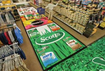 floor graphics in department store