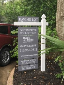 Real Estate Post and Panel Sign