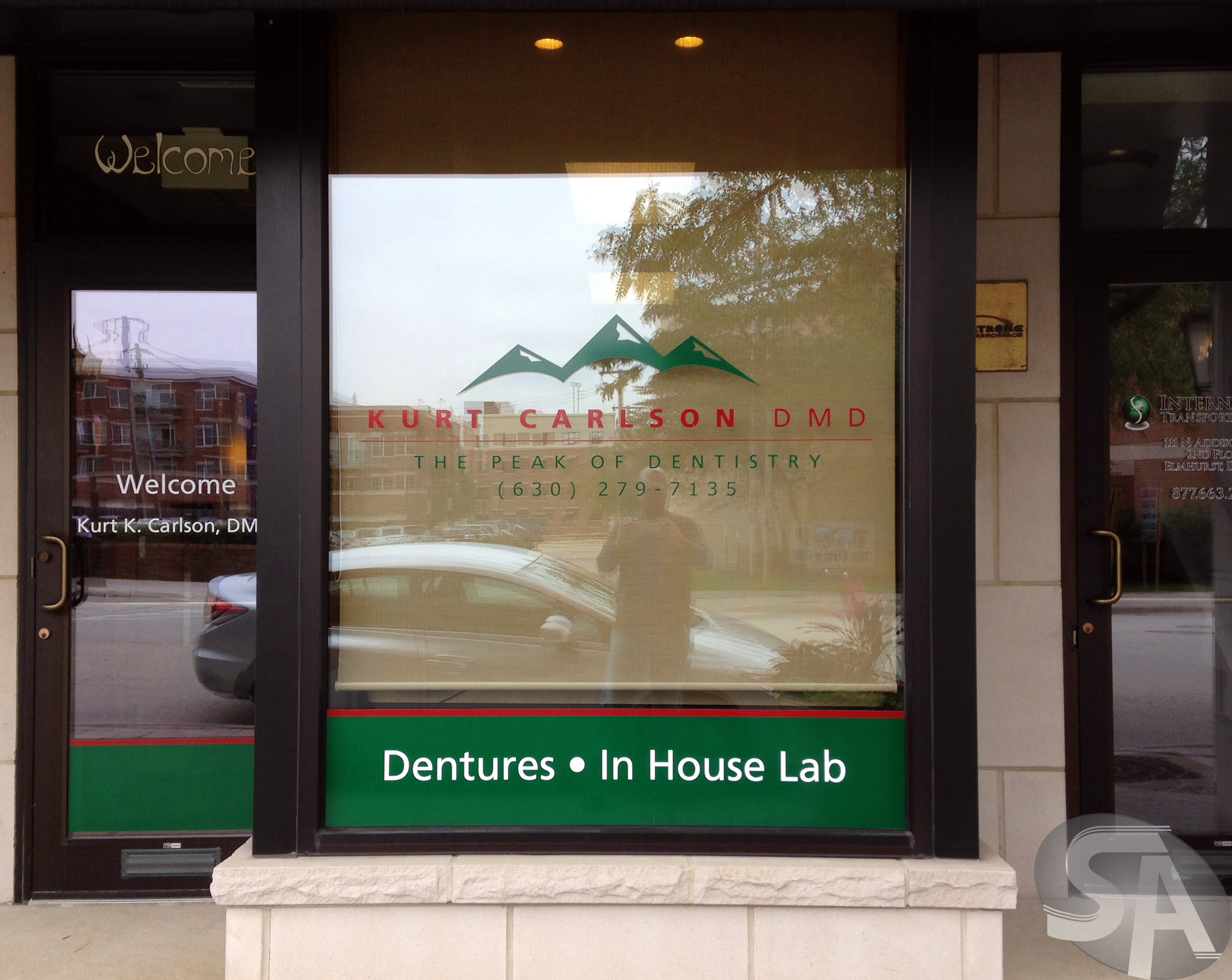 Office Window Clings : Vinyl window clings for dental office in elmhurst il