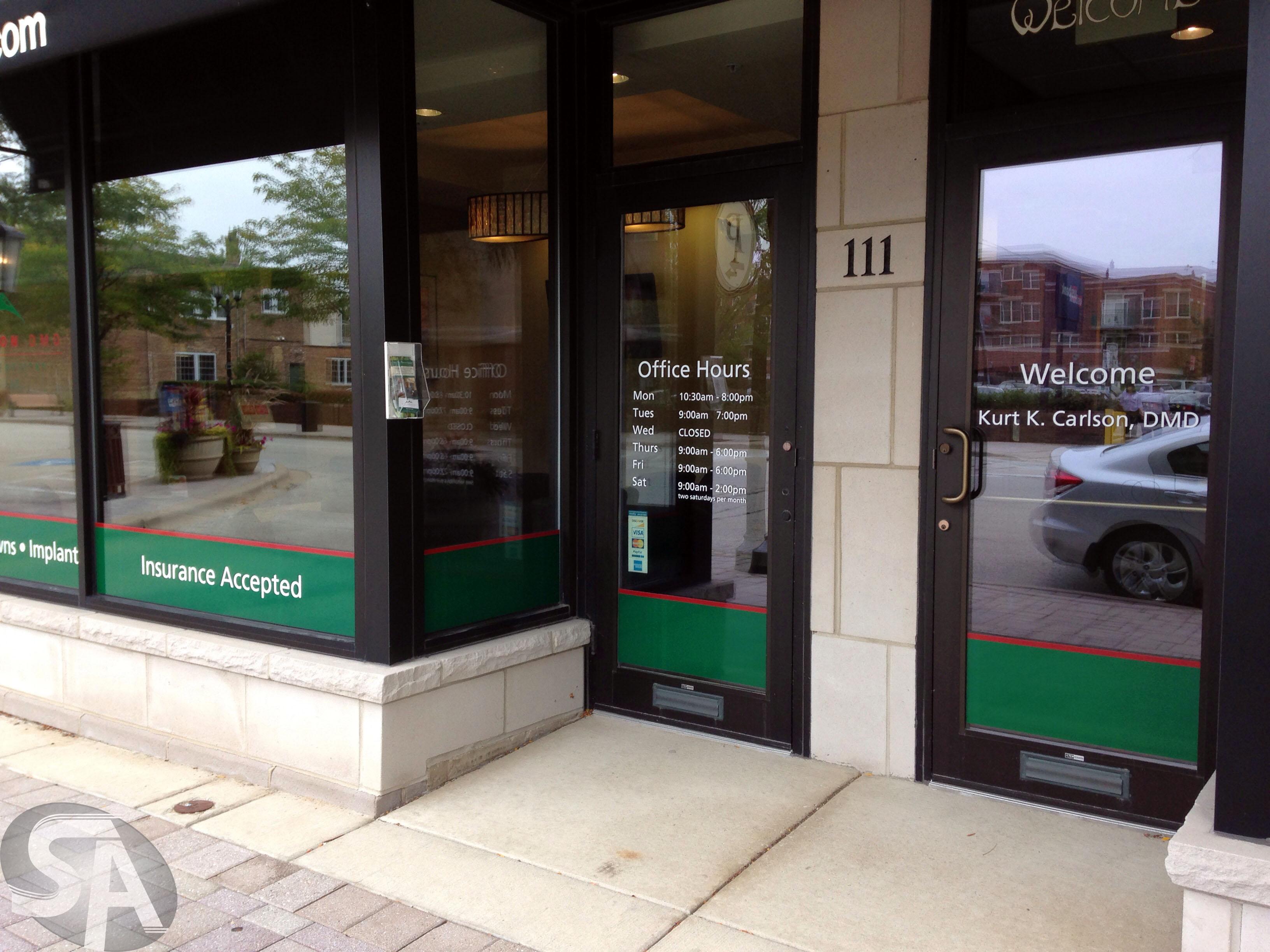 Vinyl Window Clings For Dental Office In Elmhurst IL For Kurt K - Window decals for dental office