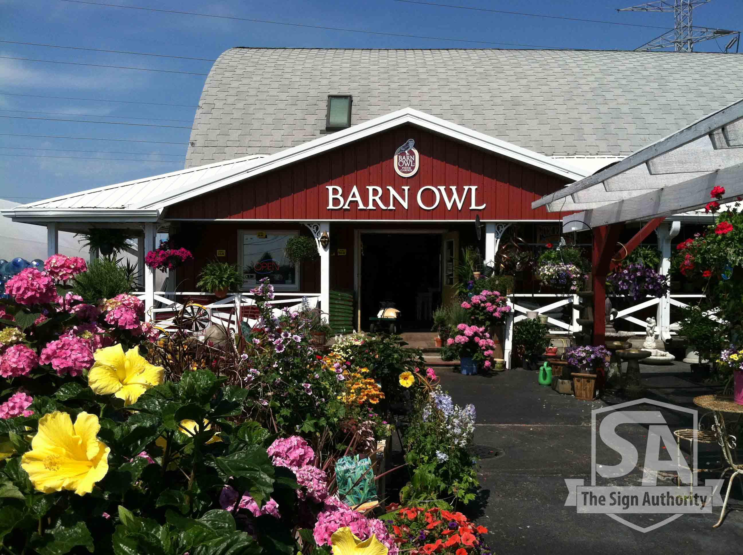 Custom Large Building Signs for Barn Owl in Carol Stream, IL