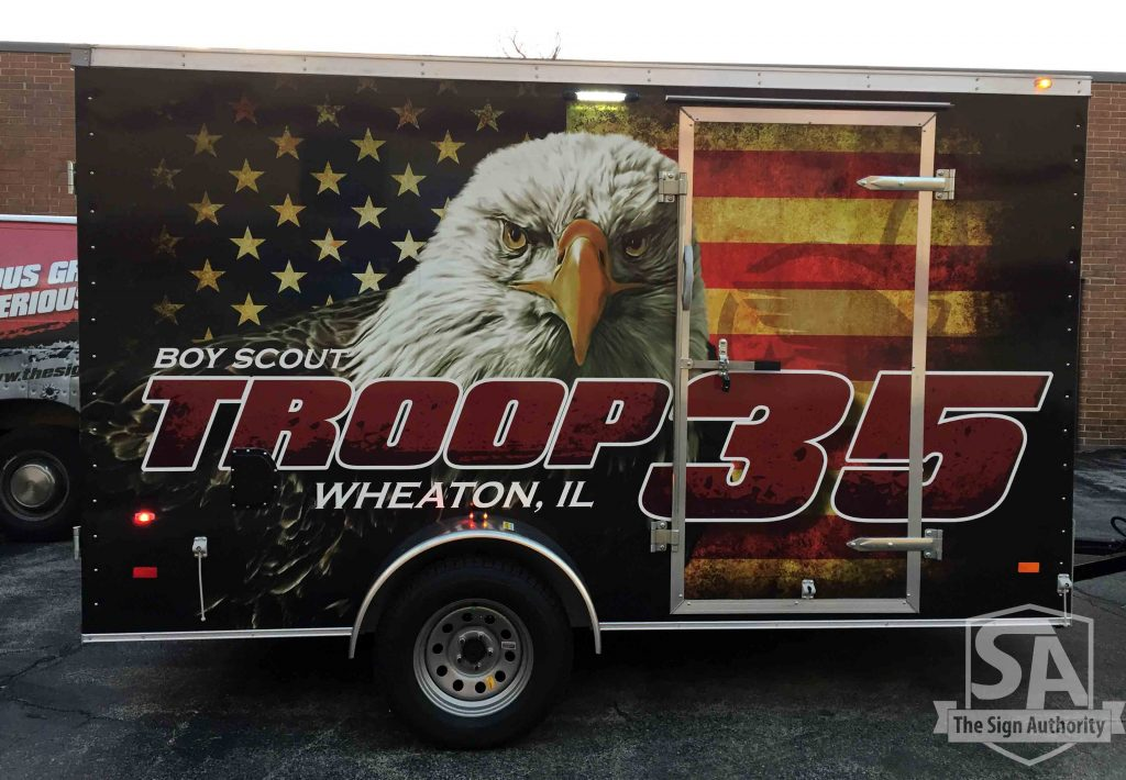 Trailer Wrap For Boy Scout Troop In Wheaton Il