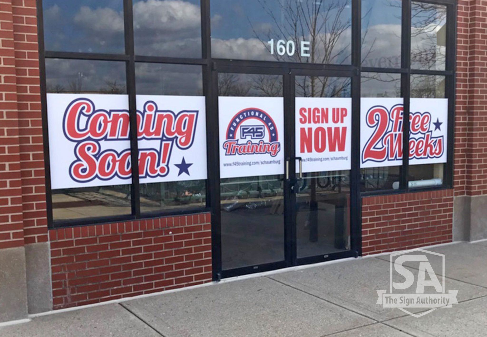 Temporary Quot Coming Soon Quot Window Graphics Naperville Il